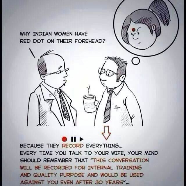 Red dot indian women